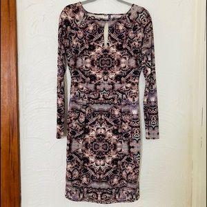 J.Lo snakeskin print longsleeve dress